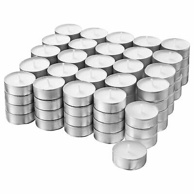 £6.40 • Buy 100x Tealight Candles Unscented - Plant Based Wax - 38mm Diameter IKEA TILLVARO