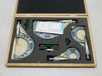 $15.50 • Buy Mitutoyo Micrometer Set 0-1 , 1-2 , 2-3 , 3-4  With Wooden Case  (31065)
