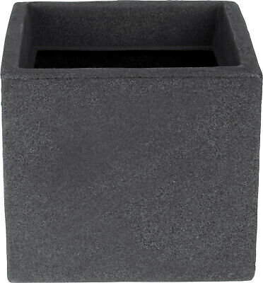 £12.99 • Buy Cube Planters Plant Pot Charcoal Grey 20cm Square Windowbox Indoor Outdoor
