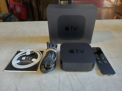 AU167.33 • Buy Apple TV MGY52LL/A 4th Generation 32GB Black Model A1625 Great Condition