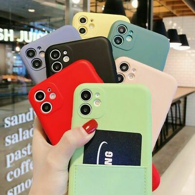 AU7.53 • Buy Phone Case For IPhone 12 11 Pro Max X 7 8 Silicone Cover With Wallet Card Holder