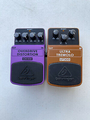 $ CDN124.07 • Buy Behringer OD300 Overdrive Distortion UT300 Ultra Tremolo Guitar Effect Pedal Lot