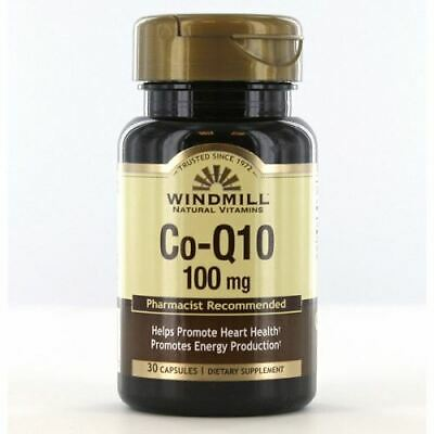 $ CDN21.58 • Buy Co-Q 10 30 Caps 100 Mg By Windmill Health Products