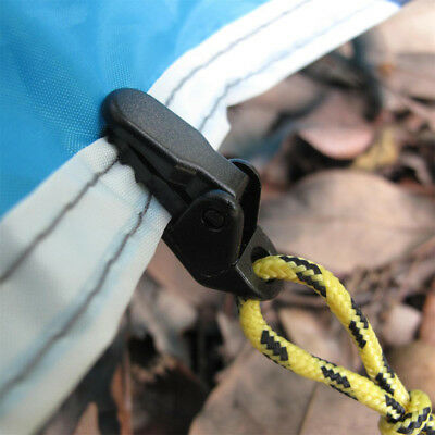 10PCS Tents Clip Hook Camping Hiking Awnings Tent Windproof Solid Rope Clamp • 2.59£