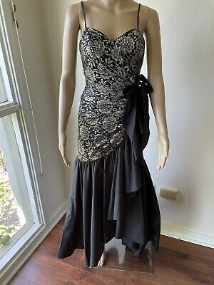 AU19.99 • Buy Mr K Vintage 80's 90's Formal Prom Evening Party Dress Size 8 Lined   Exc Cond!