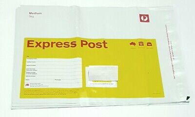 AU384.95 • Buy 30 X 3kg Australia Express Post Prepaid Satchels W/ Tracking Can Hold Up To 5kg