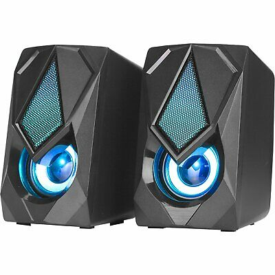 £14.95 • Buy Surround Sound System LED PC Speakers Gaming Bass USB Wired For Desktop Computer