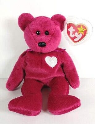 £6.99 • Buy TY Valentina The Bear 8  Beanie Baby Plush Vintage 1998 Retired - New With Tags