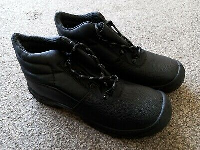 AU12.50 • Buy Chukka Safety Work Boots Shoes Leather Steel Toe Cap & Midsole Size 9 Mens