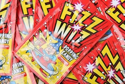 £6.24 • Buy Fizz Wiz Popping Candy - Strawberry - Retro Sweets Space Dust - Select 10,20,50