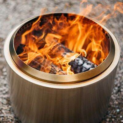 £19.99 • Buy Portable Mini BBQ Fire Pit Stainless Steel For Camping Oven Outdoor Wood Burning