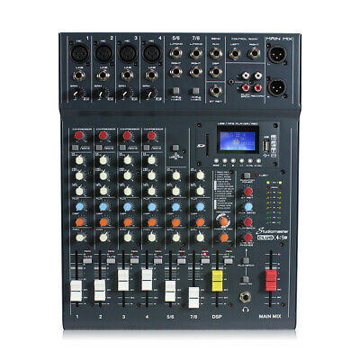 £145 • Buy Studiomaster CLUBXS8 8 Channel PA Mixer With Bluetooth & USB