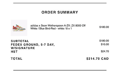 $ CDN229.99 • Buy Adidas ZX 8000 Sean Wotherspoon Superearth Size 8*Confirmed Order*