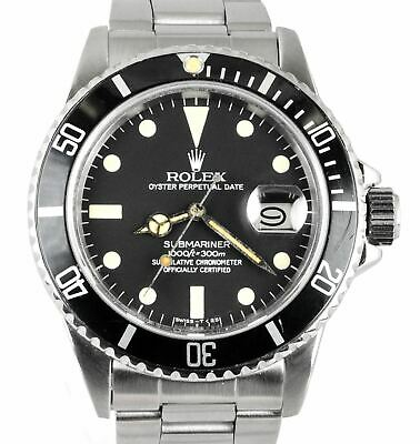 $ CDN15029.77 • Buy RARE Vintage 1984 Rolex Submariner Date MATTE Black Patina 16800 Stainless 40mm