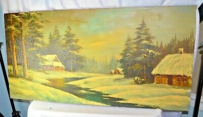 $ CDN93.35 • Buy Signed Oil Painting By Phillip Cantrell~Canvas 48  X 24