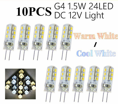 AU12.36 • Buy 10X G4 1.5W 24LED SMD Capsule Corn Light Bulb Replace Halogen 12V Warm Cool Whit