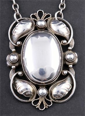 GEORG JENSEN Sterling Silver Pendant # 171 With Silverball. LARGE. VERY RARE • 1,516.81£