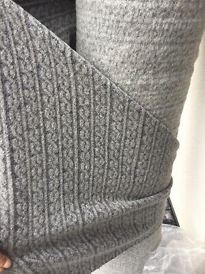 £10 • Buy Cable Knit Wool Fabric ,Grey  Only £10 M