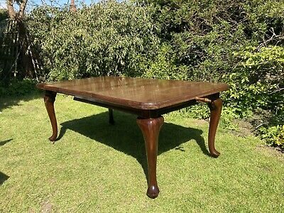 £249 • Buy Antique Edwardian Mahogany Wind-out Dining Table On Cabriole Legs Casters