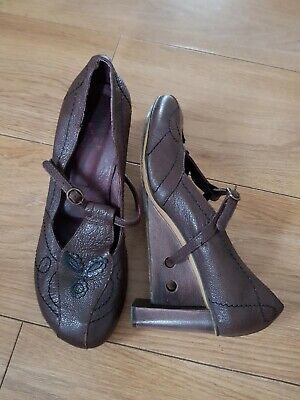 £15 • Buy Harlot Hearted Brown Leather Women Shoes. Size Uk 6