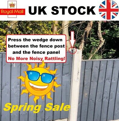 £8.75 • Buy 20 Fence Panel Wedges Clips Security Grips, Stops Rattling Fences Fast