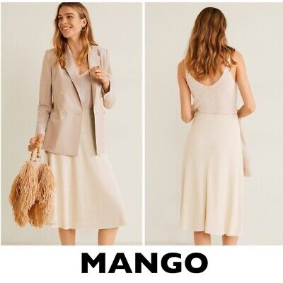 £28.33 • Buy MANGO Beige Cable Knit A-line Skirt Size Small (New With Tags)