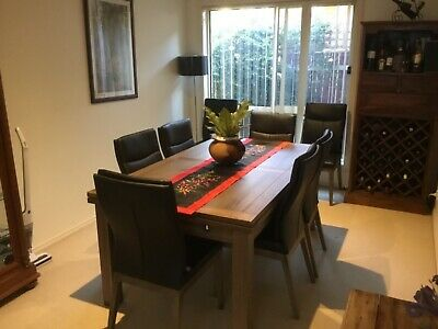 AU1800 • Buy SOLD 9 Piece Extendable Dining Suite (purchased From Harvey Norman)