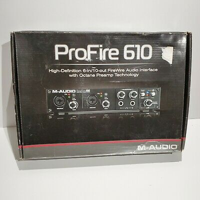$104.41 • Buy M-Audio ProFire 610 Digital Recording Interface 6-in/10-out FireWire NO SOFTWARE