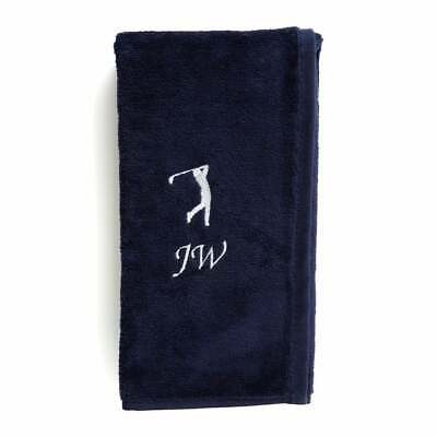 Personalised Golf Towel Tri-Fold Any Name Towel - Embroidered Gift Perfect For D • 19.99£