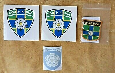 £6.35 • Buy NORTH RIDING Yorkshire Bundle Window Stickers & Embroidered Patch Badge
