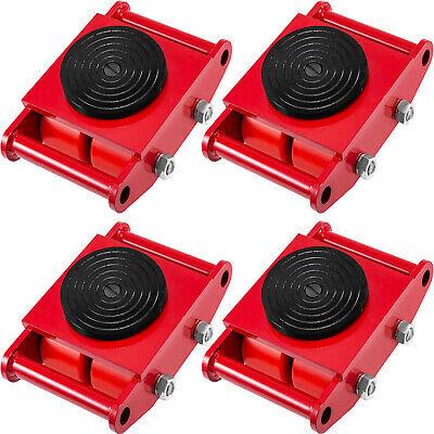 $203.98 • Buy 4Pcs/Set Machine Dolly Skate Machinery Roller Mover Cargo Trolley 13200lbs/6 Ton