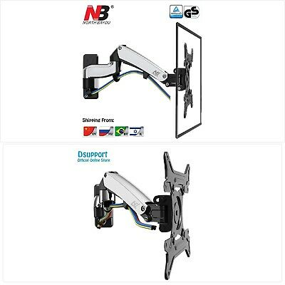 NB F300 Gas Spring 360 Degree 30-40  TV Wall Mount LCD Monitor Holder Aluminum M • 105.34£