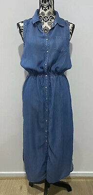 AU25 • Buy Forever New Maxi Denim Dress, Casual Summer, Ladies, Excellent Condition Size 12