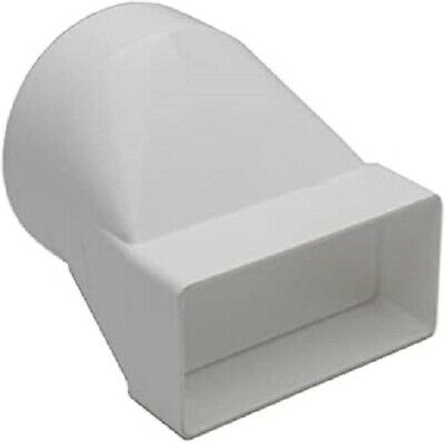 £6.96 • Buy Ducting Adaptor 110mm X 54mm To 100mm - 4 Inch Rectangular To Round Extractor