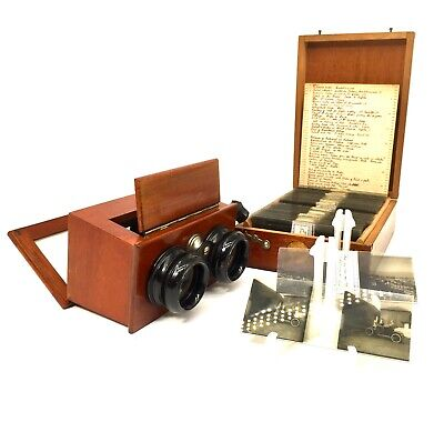 £269 • Buy Antique Wooden Mahogany Handheld Stereo Viewer / Stereoscope By JCA Dresden