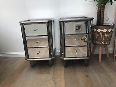 £300 • Buy 2 Next Antique Venetian Mirrored Bedside Tables