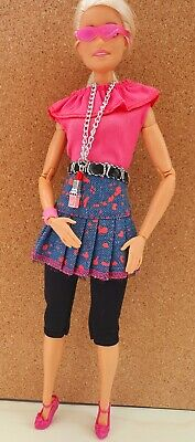 £4.95 • Buy Barbie Outfit, Skirt, Leggings, Top, Glasses, Shoes, Lipstick Necklace, Bangle