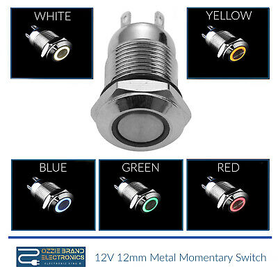 £2.99 • Buy Waterproof Stainless Steel Push Button Switch Momentary Push On 2A Rated 12v LED