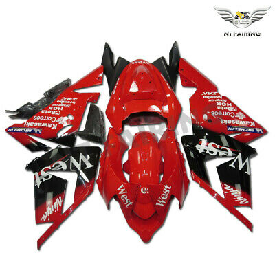 $459.99 • Buy WO Injection Red Black Fairing Kit Fit For Kawasaki Ninja 2004 2005 ZX10R X024