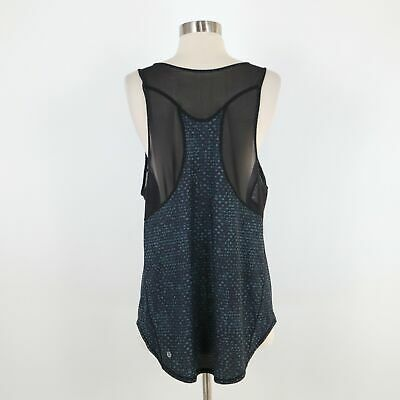 $ CDN56.12 • Buy Lululemon Sculpt II Tank Top Womens 8 Vented Mesh Black Teal Shatter Weave Run