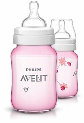 AU37.42 • Buy Philips Avent Baby Classic Bottle (260 Ml, Pink Lady Bugs, Pack Of 2)