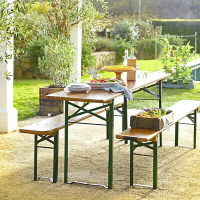 £169.95 • Buy Picnic Table Bench Set Wood Outdoor Portable Folding BBQ Party Camping Chairs UK