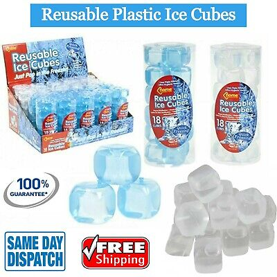 £4.88 • Buy ICE CUBES ICE Blocks Reusable Plastic Cool Cold Drink Cooler Bar Party Freezer