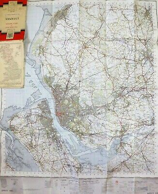 £11.95 • Buy Vintage Ordnance Survey - One Inch Map - Liverpool, Sheet 100 - 1952 7th Series