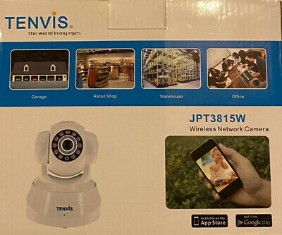 £25.99 • Buy Tenvis JPT3815W IP Wi-Fi Camera White Will Be Posted With 2nd Class Mail.
