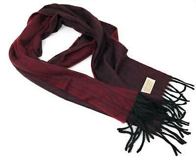 $61.18 • Buy 100% Cashmere Scarf - Burgundy/Black Reversible -  Made In Scotland