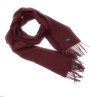 $54.22 • Buy 100% Cashmere Scarf - Burgundy -  Made In Scotland