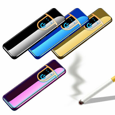 £7.85 • Buy USB Electric Slim Lighter Cigarette Rechargeable Flameless Windproof + Gift Box