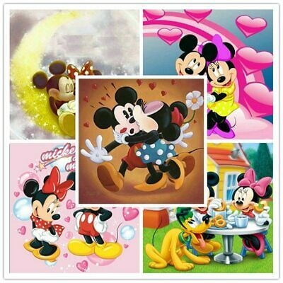 AU11.45 • Buy Cartoon Diamond Painting Mickey Disney Characters Picture Full Drill Craft Sale