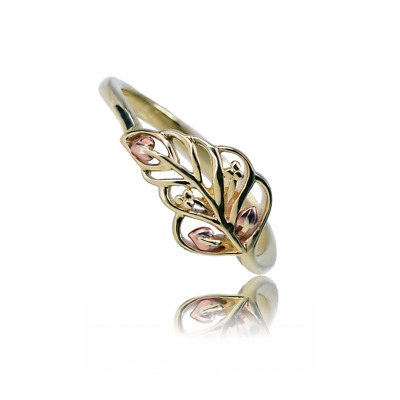 £189 • Buy Clogau Gold Ring 9ct Size N Yellow Rose Welsh Feather Tree Of Life Motif New Box